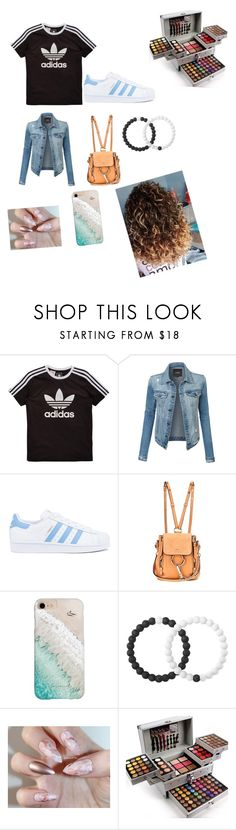 """""""Cool"""" by katierandles85 ❤ liked on Polyvore featuring adidas Originals, LE3NO, adidas, Chloé, Gray Malin and Lokai"""