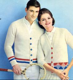 1960'sTennis Sweaters ad  :-) -- view board http://pinterest.com/davidos193/le-couple/
