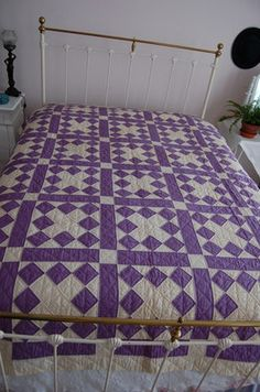 Vintage Hand Quilted Lavender Purple Quilt Pretty Easter Color | eBay