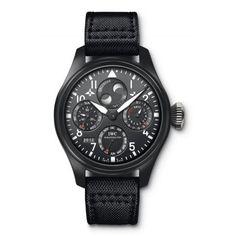 http://www.horloger-paris.com/fr/305-iwc-aviateur-big-pilot  IWC Montre d'Aviateur Top Gun Big Pilot - Calendrier / Quantième Perpetuel : IW502902 : IWC