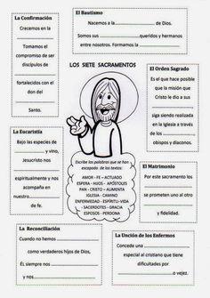 SOPA DE LETRAS SACRAMENTOS:       CRUCIGRAMA CON LOS SACRAMENTOS:                  Juego de los Sacramentos para colorear y completar:    ...