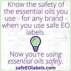 Safe EO Labels – Set A | Using Essential Oils Safely