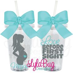 LOVE BEFORE FIRST SIGHT personalized acrylic TUMBLER MATERNITY, NEW MOM GIFT BABY SHOWER GIFT LylaBug Designs Mother's Day Gift, Mom Birthday, gifts for mom