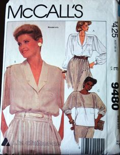 McCalls 9480 Pattern for Misses Blouse in 3 by VictorianWardrobe, $4.00