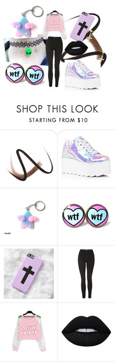 """""""pastel goth"""" by pastel-goth-tumblr ❤ liked on Polyvore featuring Burberry, Y.R.U., Topshop, Lime Crime and Gjenmi"""