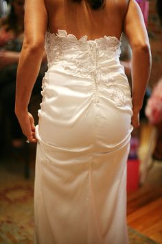 Back detail, designed in Colorado, silk charmeuse. Brooks Luby, designer