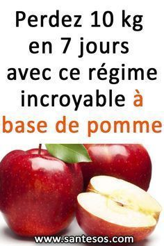 Lose 10 kg in 7 days with this incredible apple-based diet - Beauté - Régime Apple Diet, Sport Diet, Chocolate Slim, Full Body Detox, Before And After Weightloss, 1000 Calories, Detox Drinks, Diet And Nutrition, Healthy Life