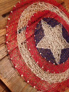 28 DIY Thread and Nails String Art Projects That Will Beautifully Reshape Your Interior Decor + captain america shield... Soo cool
