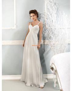 A-line Crystal détaillant Empire Robes de mariée 2014