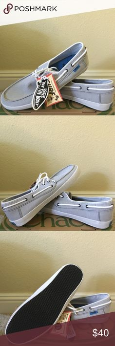 Brand New! Vans surf side boat shoes. Size: 9.5 Brand new! Never worn but missing shoe box. Vans brand surf slider chauffeau shoes. These shoes are like sandals. They are perfect for the beach or lake side. They look comfortable to wear. Size: 9.5 Men's Vans Shoes Sandals & Flip-Flops