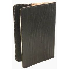 Hand Made Genuine Leather Passport Cover - Fair Trade - Zebra Print, Black (Office Product)