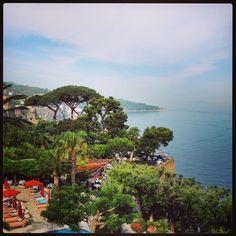 View from the Grand Ambasciatori Hotel, Sorrento.