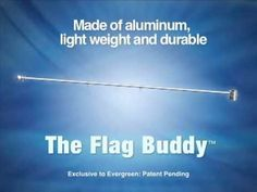 At FlagCenter we have the answer to any banner or flag that folds or droops.  Take a look at the Flag Buddy. http://www.flagcenter.com/flag-buddy/