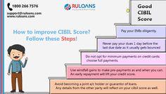 CIBIL Score - Ruloans 5 Simple Steps to Improve CIBIL Score!
