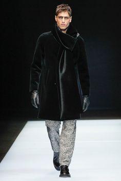 2ea2c47b3be Emporio Armani Does Techno Tailoring for Fall Collection. Armani MenEmporio  ArmaniMens ...
