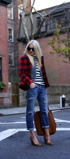 2e0ec3e566 stripes   plaid Street Style 2014