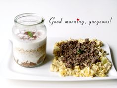 overnight oats and eggs