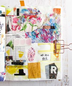 Art Journal Pages from Scraps