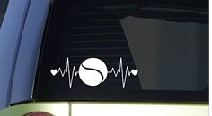 "Tennis heartbeat lifeline *I256* 8"" wide Sticker decal ra... https://www.amazon.com/dp/B01605OAMW/ref=cm_sw_r_pi_dp_x_LK4MybC4693Q7"