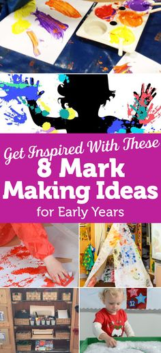Get Inspired With These 8 Mark Making Ideas Foundation Stage, Eyfs, Mark Making, Pre School, Making Ideas, How To Apply, Activities, Children, Inspiration