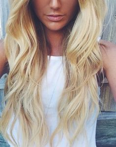 Locks that make you look out of this world   Full Head Remy Clip in Human Hair Extensions - Bleach Blonde (#613)   Shop Now: http://www.cliphair.co.uk/22-Inch-Full-Head-Clip-In-Hair-Extensions-Bleach-Blonde-613.html