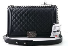 623417f7fbaf 2018 NWT CHANEL Le Boy NEW Medium Sz BLACK CAVIAR RUTHENIUM Flap Bag Mini  WoC