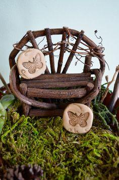 Miniature pillow for Fairy garden butterfly by garnetteh on Etsy, $3.50