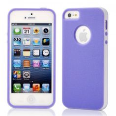 For Apple iPhone 5 Slim case with PC Frame & TPU Cover -Purple