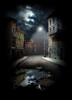 Moon Lantern, Prague, Czech Republic photo via johnathan (Blue Pueblo) Night Photography, Landscape Photography, Croquis Architecture, Night Street, Prague Czech Republic, Heart Of Europe, Photocollage, Fantasy Landscape, City Streets