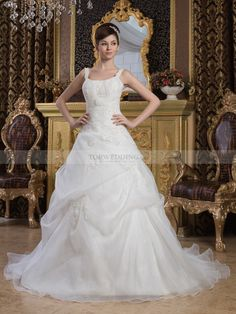 Luxury Appliqued Ball Gown with Beading and Pick Ups