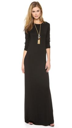 Wearing this to my dinner tonight. | Black Maxi Dress
