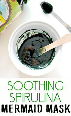 DIY Soothing Spirulina Mermaid Mask - deeply nourishing, hydrating, calming and fun to wear!