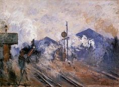 Track Coming out of Saint-Lazare Station - Claude Monet - The Athenaeum