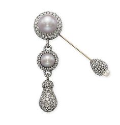 Pearl and diamond fibula brooch by JAR, 2002, sold for $339,913 on $140k-162k estimate at Christie's Geneva