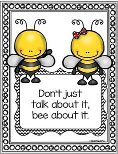 by Speech Dreams Bee Bulletin Boards, Bee Quotes, Bee Images, Bee Cards, Bee Theme, Save The Bees, Bee Happy, Bees Knees, Spelling Bee