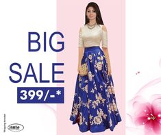 RESTOCKED On Popular Demand!. Get this Gown at only Rs 399/- only on www.mutafashion.com New Outfits, Fashion Outfits, Womens Fashion, Silk Gown, Blouse Styles, Lehenga, Women Wear, One Piece, Gowns