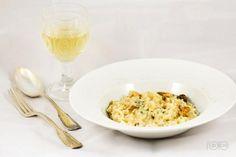 Risotto met paddenstoelen en Roquefort