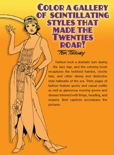 Welcome to Dover Publications  Fashions of the Roaring Twenties Coloring Book