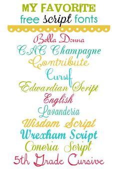 Free Script Fonts to download from various websites! { lilluna.com }