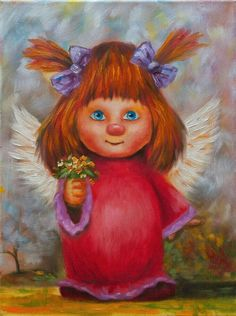 Always share your smile with the world. It is the symbol of friendship and peace. Pictures To Paint, Art Pictures, Art Images, Owl Photos, Unicorns And Mermaids, Angel Pictures, Happy Art, Angel Art, Cool Paintings