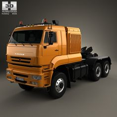 KamAZ 65226 Tractor Truck 2010 3d model from Humster3D.com