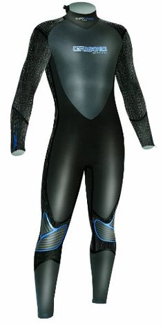 CAMARO Men's Superelastic 5/4/3mm Dive Neoprene Backzipper Overall Suit, Black, XX-Large * You can find more details by visiting the image link.