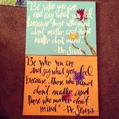 Dr. Seuss canvases