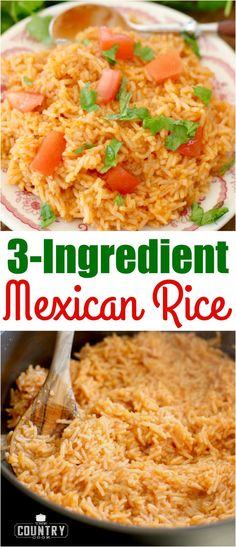 Mexican Mexican Rice recipe from The. Mexican Mexican Rice recipe from The Country Cook Side Dish Recipes, New Recipes, Cooking Recipes, Favorite Recipes, Cooking Kale, Vegetarian Cooking, Cooking Tips, Mexican Rice Recipes, Mexican Dishes