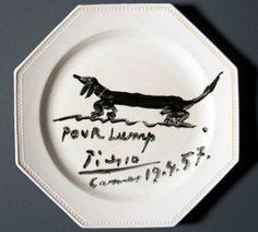 picasso dachshund plate