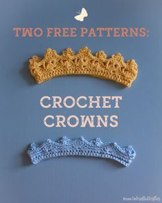 I recently designed a couple little crochet crowns for my friends' baby, and I thought I'd share the patterns here for you. These are a great project for a beginner crocheter looking to stretch their skills, as they let you play around with a couple stitch patterns and possibly learn some new techniques, and also an easy but satisfying project for more experienced crocheters.