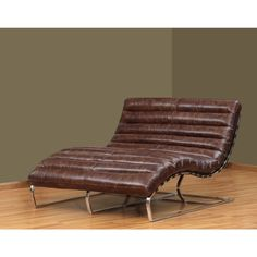 Perici Double Leather Chaise - Overstock Shopping - Great Deals on Living Room Chairs