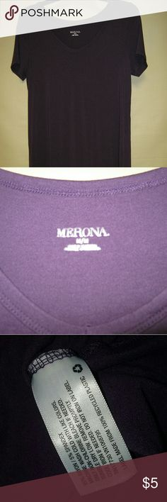 Merona silky soft v neck tee royal purple Super stretchy tee by Merona. Rich purple color, best depicted in second picture. Has a cool, silky feel, very soft. No stains or tears. Offers welcome! Merona Tops Tees - Short Sleeve