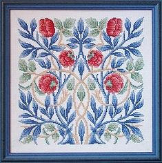 Counted Cross Stitch Kits: William Morris Floral Designs