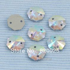 30 X Crystal AB Octangle Facet Flatback Sew Crystal | Buy Wholesale On Line Direct from China